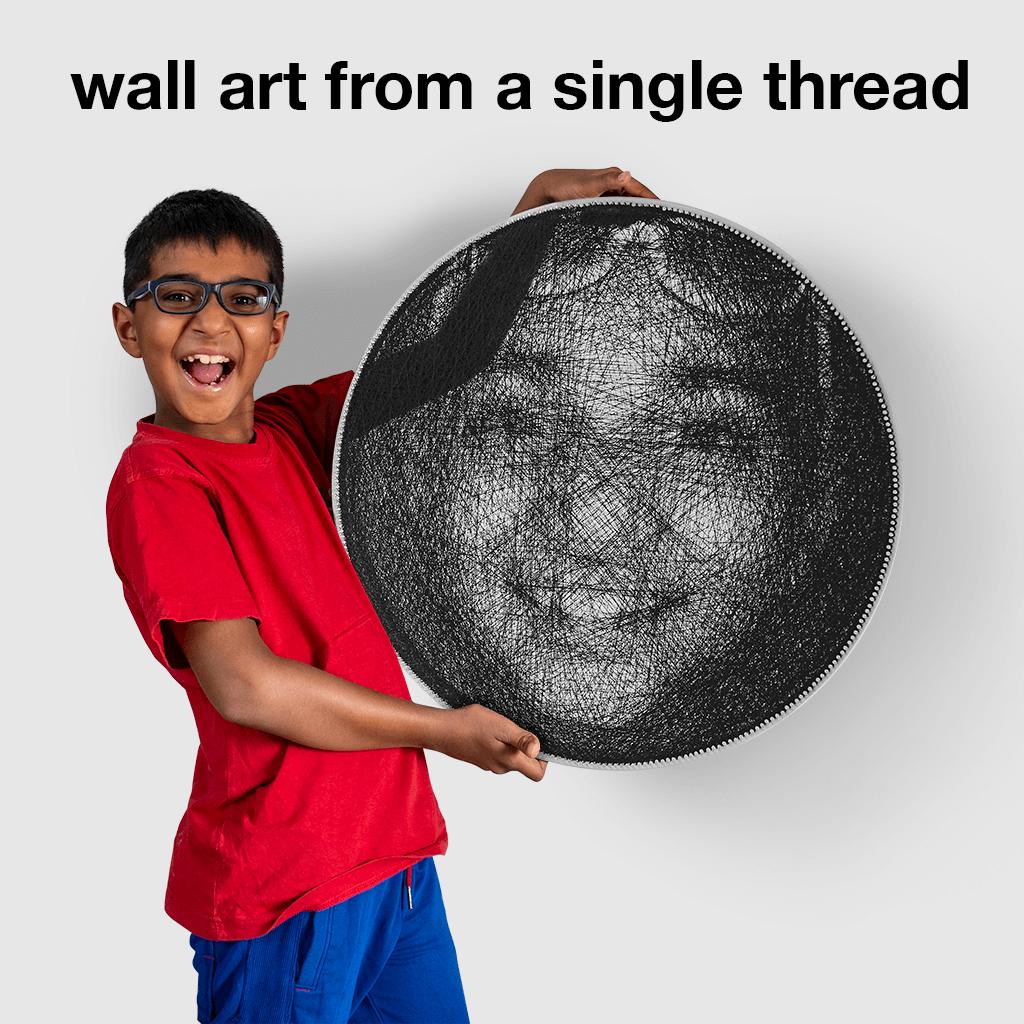 wall art from a single thread